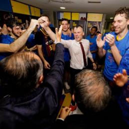 """""""Barcelona"""" kartu su Š. Jasikevičiumi priešakyje triumfavo ACB Ispanijos lygoje"""