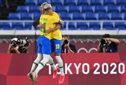 Olimpines žaidynes brazilų futbolininkai pradėjo su trenksmu – milžiniška pergalė prieš vokiečius