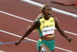 Moterų 100 m finale – jamaikiečių dominavimas bei olimpinį rekordą pagerinusios E. Thompson triumfas