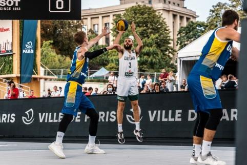 Lietuvos vyrų rinktinė 3x3 Europos krepšinio čempionate prasibrovė į finalą (Atnaujinta)