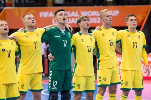 Lietuvos salės futbolo rinktinė nepasipriešino Kazachstano atstovams