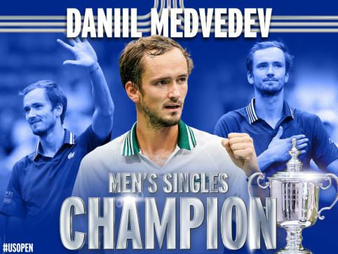 """N. Džokovičiaus svajonę užbaigė D. Medvedevas, kuris tapo """"US Open"""" nugalėtoju"""
