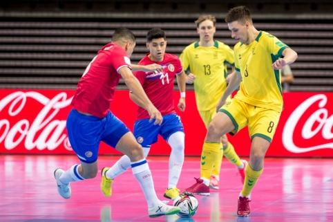 Pranašumą iš rankų išleidusi Lietuvos futsal rinktinė baigė pasirodymą pasaulio čempionate